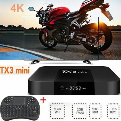 TX3 Mini S905W Quad core 2G+16G 4K TV Box Android7.1 WIFI 3D Player 17.3 clavier