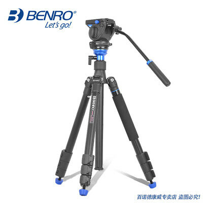 BENRO A2883FS4 Professional Aluminum Tripod For Video Camera with 3D Fluid Head