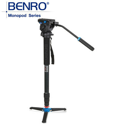 Benro A48TDS4 Professional Photography tripod Monopod with S4 Fluid head