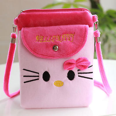 Kids Girls Hello Kitty Mini Cross Body Bag Handbag Shoulder Phone Messenger New