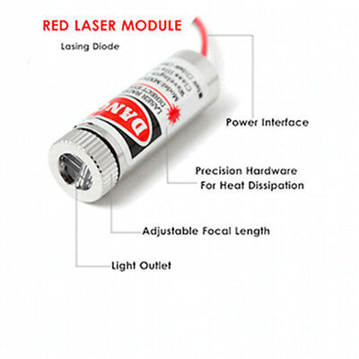 Red Cross Marking Target Laser Diode 650nm 5mW 5V Line Module Adjustable Focus