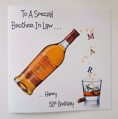 Personalised 50th Birthday Card Whiskey 21st 30th 40th Brother In