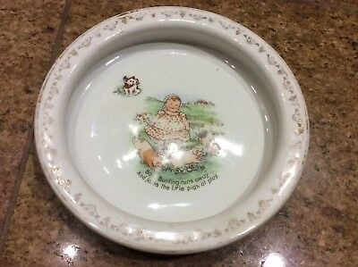 Vtg D.E. McNicol Baby / Child's DISH Baby Bunting