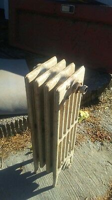 Vintage Small Cast Iron Steam Radiator Heater