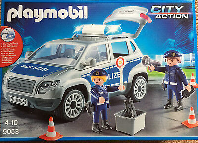 playmobil 9053 city action polizei gel ndewagen mit licht und sound eur 39 99 picclick de. Black Bedroom Furniture Sets. Home Design Ideas