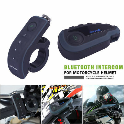 V8 5 Riders 1200m Motorcycle Intercom Bluetooth Headset Helmet w/NFC FM GPS Set