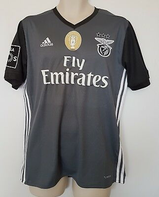 benfica football shirt 2017-2018 Away + champions badge size M