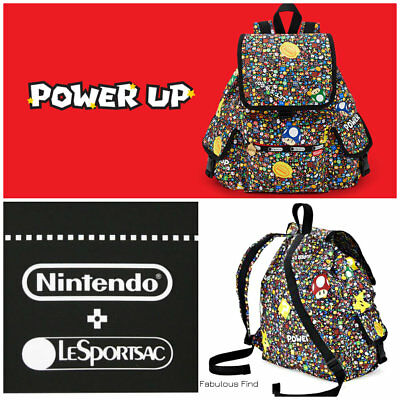 729c3475f713 LeSportsac Nintendo Power Up Burst Voyager Backpack Super Mario Free Ship  NWT