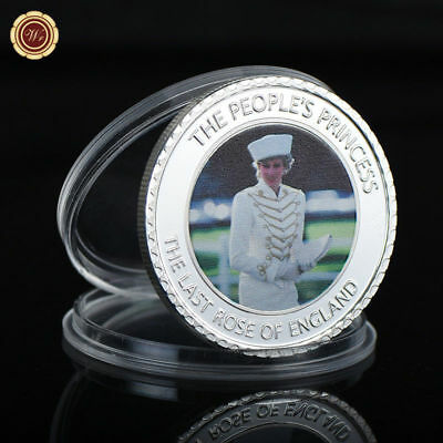 WR The People's Princess Diana Silver Coin England Collector Item Souvenir Gifts