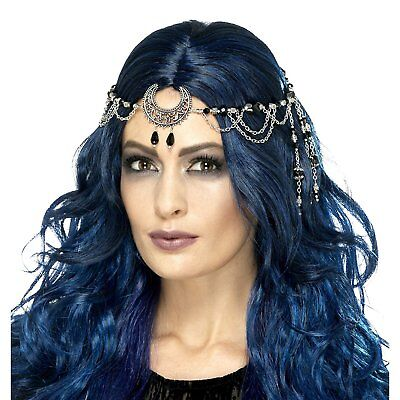 Womens Gothic Moon Pagan Witch Halloween Headpiece