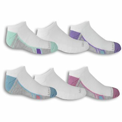 Fruit of the Loom Girls No Show Socks 6 Pair