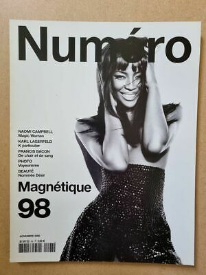 Magazine mode fashion NUMERO french #98 novembre 2008 Naomi Campbell -Magnétique