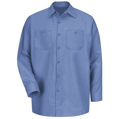 Red Kap Mens Long Sleeve Industrial Work Shirt - Petrol Blue