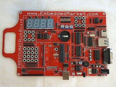 Freeduino: Arduino Compatible Board with 21 built-in shield functions