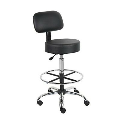 OPENED BOX Boss Office Products B16245-BK Be Well Medical Spa Drafting Stool