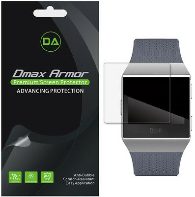 [6-Pack] Dmax Armor Full Coverage Clear Screen Protector For Fitbit Ionic