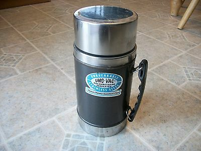 Vintage Retro UNO-VAC Stainless Steel Thermos, Union Mfg. Co.