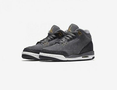 Youth (GS) Air Jordan 3 Retro Dark Grey/Metallic Red Bronze 441140-035
