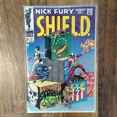 Nick Fury Agent Of S.H.I.E.L.D. #1 - 1st SCORPIO Marvel Comics 1968 Big Premiere