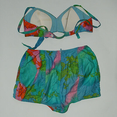 Vintage Catalina Two-Piece Sarong-Style Bathing Suit; Swimsuit