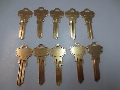1000 Nickel Plated Over Brass Kwikset KW1 Key Blanks Made by Ilco in USA