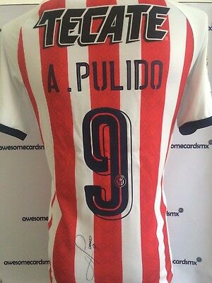 f6784ca5459 Jersey Chivas 2017 Signed by Alan Pulido Photo Proof Certificate  Authenticity