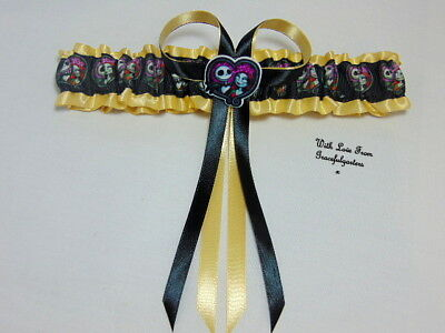 Jack and Sally Nightmare before Christmas bridal wedding garter.