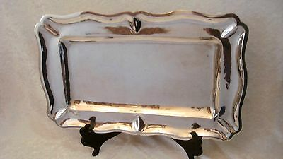 """Vintage Silverplate Plateado MEXICO Rectangle Beveled Serving Tray Platter 17"""""""
