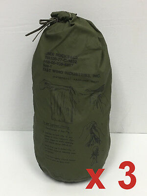 QTY 3 ALICE Field Pack Pocket Liner Military Waterproof Dry Bag Size 1 UA