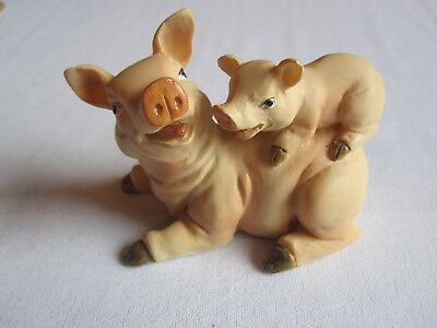 Pig and Piglet Figurine (resin?)
