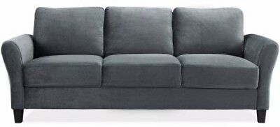 modern comfy linen fabric sectional sofa small space configurable