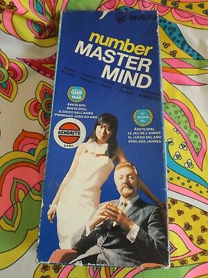 Vintage Retro  Number Mastermind /   Master Mind Game  by Invicta