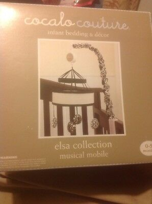 Baby Crib Musical Mobile Birth- 5 Months Black And White Design New In Box