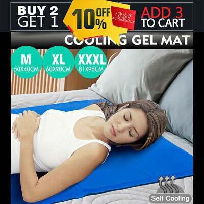 Summer Cooling Gel Mat Bed Non-Toxic Cool Water Pad Cushion Laptop Computer Desk