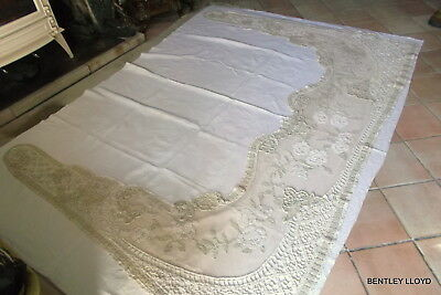 Antique Original Hand Made Mixed Lace Wedding Bedhead Portiere Decoration