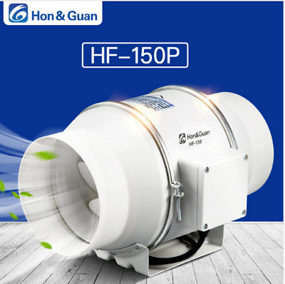 "6"" Mixed Flow Inline Duct Fan Hydroponic Extractor Fan Booster Duct Fan 312CFM"
