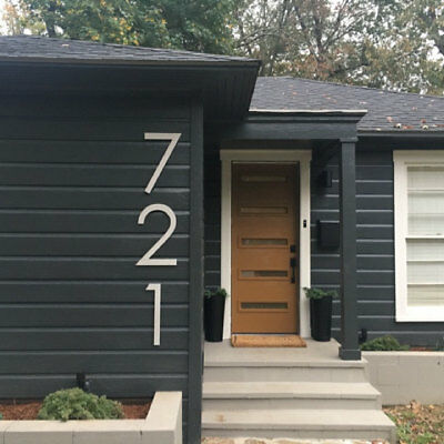 14 inch Modern House Address Numbers Letters, color choices