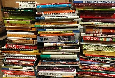 Lot of 20 Cooking Baking Recipe Grilling Low-Fat Ingredient Books MIX-UNSORTED