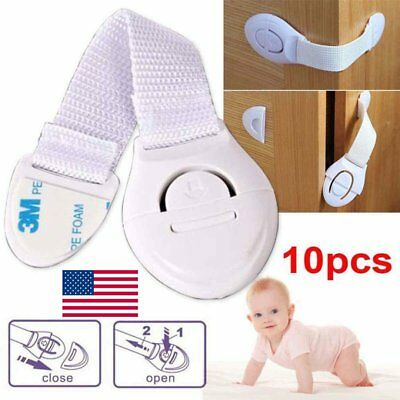 10PC Children Baby Infant Kids Drawer Door Locks Cabinet Cupboard Safety Locks
