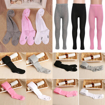 HOT 0-6 Years Infant Soft Children Baby Girls Tights Cotton Knitted Pantyhose