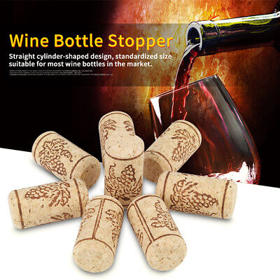 100Pcs Natural Wooden Cork Stoppers Wine Bottle Bung Corks Art DIY Craft 22x44mm