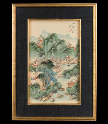China 20. Jh. Seide Malerei A Chinese Ink & Wash Painting on Silk Chinois Cinese