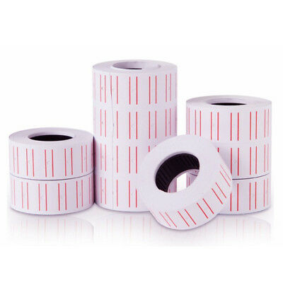 5Roll Adhesive Price Labels Paper Tag Sticker Single Row for Price Gun Labeller