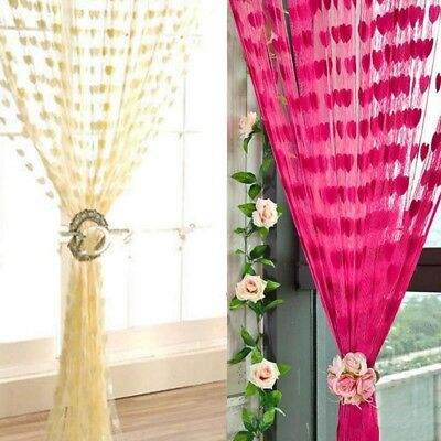 HOT Silk String Curtain Panels ~ Fly Screen & Room Divider ~ Voile Net Curtains