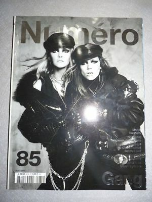 Magazine mode fashion NUMERO french #85 aout 2007 Gang - Bad girls