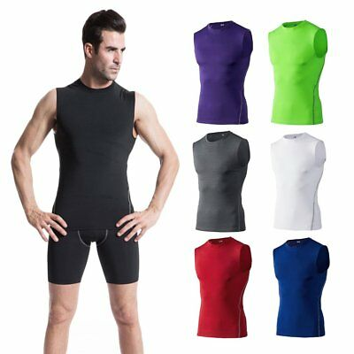Men Fast Dry Sport Solid Sleeveless T-shirt High Elasticity Breathable Shirt GT