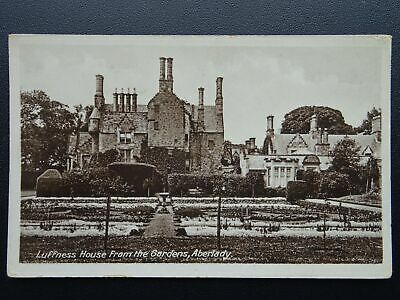 Scotland East Lothian ABERLADY Luffness House from Gardens Old Postcard by Welch