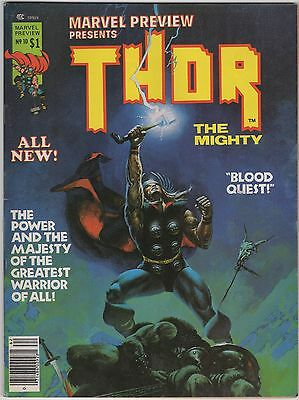 Marvel Preview #10 THOR the Mighty (Winter 1977) Odin Loki Wein Starlin DeZuniga