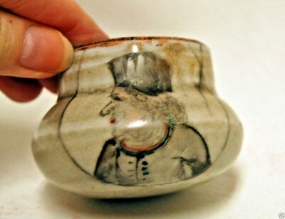 Antique 16-19th Century Chinese Hand Painted Dutch Man Brush Paint Pot Jarjet