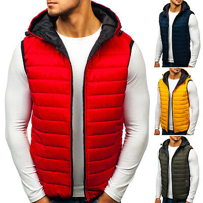 BOLF Mens Vests Gilet Waistcoat Bodywarmer Jacket Lined Hooded 4D4 Classic